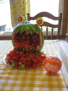 MelonMonster, inspired by MyPaperCrane by mamayaga's travelling chickenhouse, via Flickr