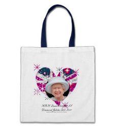 Queen Elizabeth Diamond Jubilee sparkly Union Jack memorabilia bag
