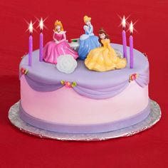 disney princess birthday cakes | to cakes with cake toppers. Lined cupcakes make the birthday cake ...