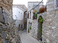 the Medieval village of Mesta in Chios- Greece, one of the so called Mastic Villages (Mastikokhoria)