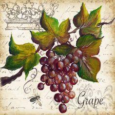 """Grape Deco"" Printed Accent Tile"