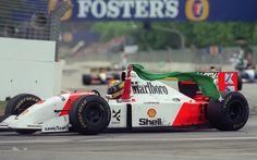 Formula One Grand Prix racing driver Ayrton Senna career in pictures