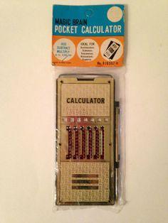 Vintage Magic Brain Pocket Calculator Add Subtract Multiply No 970357 New | eBay