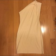 American apparel one shouldered jersey dress. Knee length, light blush color, fitted. Worn once. American Apparel Dresses One Shoulder
