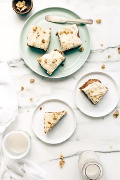 Carrot Cake Blondies with Vanilla Cashew-Coconut Icing (Vegan, gluten free)