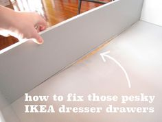 How to repair a broken IKEA dresser drawer