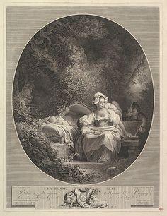 La Bonne Mere.  After Jean Honoré Fragonard  (French, Grasse 1732–1806 Paris).