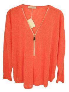 top oversize zip en maille fine sur cpourl.fr - CpourL Tee Shirts, Tees, Blouse, Zip, Shirt Blouses, Trendy Outfits, Top, T Shirts, T Shirts