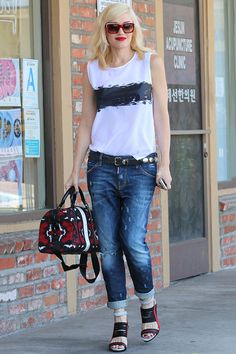 Gwen Stefani's Jean-Cuffing Trick Is A Must-See #Refinery29