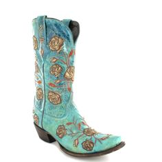 Fashion Boots - Lucchese M5646 Damen Westernstiefel - türkis / Turquoise … Cowgirl Boots, Western Boots, Online Fashion, Teal, Turquoise, Crazy Shoes, Fashion Boots, Accessories, Women's