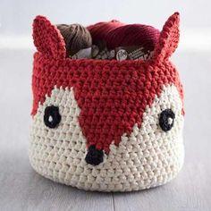 Foxy stash basket crochet pattern