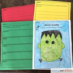Halloween Monster STEAM Freebie Writing Activity — Carly and Adam – Carly and Adam – technologie Free Activities, Writing Activities, Stem Teacher, Classroom Freebies, Classroom Ideas, Monster Drawing, Drawing Templates, Student Drawing, Stem Challenges