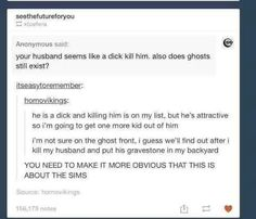 Sims, tumblr funny sorry for the language