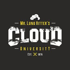 c9106681 Mr. Lung Hitter's Cloud University - Vaping in direct lung style | Classic T -Shirt