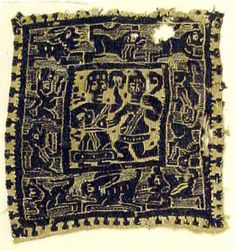 Date:      early 6th century  Geography:      Made in, Byzantine Egypt  Culture:      Coptic  Dimensions:      Overall: 7 x 6 5/8 in. (17.8 x 16.8 cm)  Classification:      Textiles-Woven  Credit Line:      Gift of Nanette B. Kelekian, in honor of Olga Raggio, 2002  Accession Number:      2002.494.878
