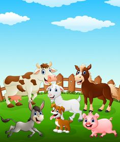 French Pictures, Happy Cow, Farm Activities, Farm Birthday, Beginner Painting, Zoo Animals, Fabric Painting, Independence Day, Animal Kingdom