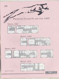 1997 Fleetwood Prowler Floor Plan Travel Trailer Brochure T5874 6j9wkf Floor Plans How To Plan Travel Trailer