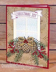 Create With Christy: Christmas Joy Christmas Card - christmas dekoration Christmas Cards 2018, Homemade Christmas Cards, Xmas Cards, Homemade Cards, Handmade Christmas, Holiday Cards, Christmas Crafts, Cards Diy, Christmas 2019