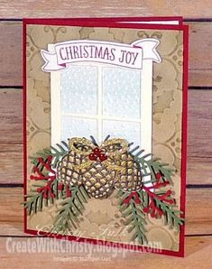 Create With Christy: Christmas Joy Christmas Card - christmas dekoration Christmas Cards 2018, Homemade Christmas Cards, Christmas Tag, Xmas Cards, Handmade Christmas, Homemade Cards, Cards Diy, Christmas 2019, Christmas Decor