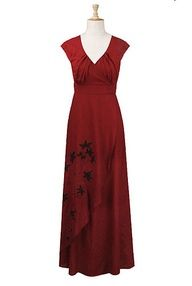 Faux-wrap #embroidered maxi #dress free #custom #size clothes, incredible!