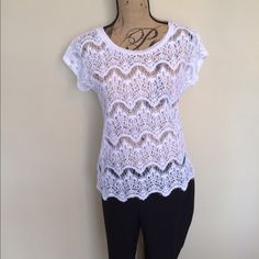 NWT! Lace white lace top  Fenn wright Manson   Size L  NWT  White  Please ask for additional pictures, measurements, or ask questions before purchase.  No trades or other apps  Ships next business day, unless noted in my closet   Bundle for discount Fenn wright manson Tops