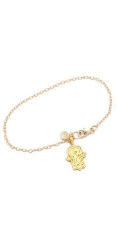 Gorjana Hamsa Charm Bracelet |