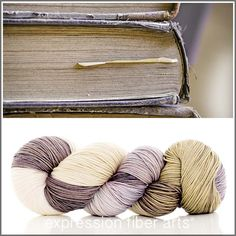Expression Fiber Arts Yarn - OLD LIBRARY BOOKS 'RESILIENT' SUPERWASH MERINO SOCK, $24.00 (http://www.expressionfiberarts.com/products/old-library-books-resilient-superwash-merino-sock.html)