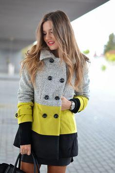 TRICOLOUR COAT | Mi aventura con la moda #kissmylook