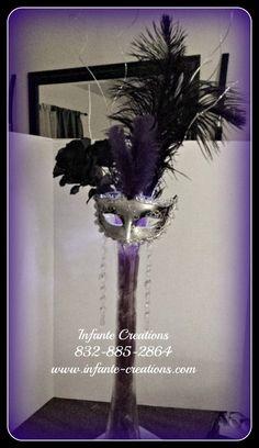 Masquerade Centerpiece #Mask #Centerpiece #Masquerade