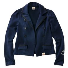 Harajuku Mini for Target® Girls Long-Sleeve Blazer - Navy.Opens in a new window