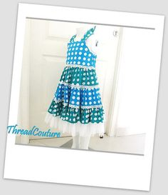 Girl's Dress Sewing Pattern, Tiered Polka Dot Dress (pdf Pattern) on Luulla
