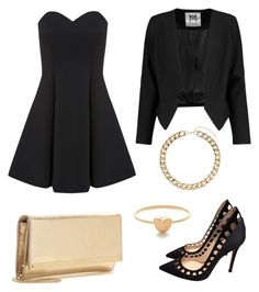 """""""Date night #2 """" by anamellod ❤ liked on Polyvore featuring Miss Selfridge, Gianvito Rossi, Jeweliq, Jimmy Choo, Milly, Dorothy Perkins, NightOut, Sexy, date and classy"""