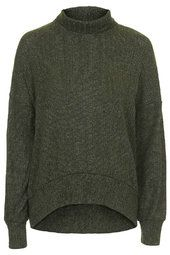 Cocoon in hunter Sporty Chic, Casual Chic, Embellished Jeans, Wardrobe Staples, New Trends, Men Sweater, Topshop, Turtle Neck, Style Inspiration