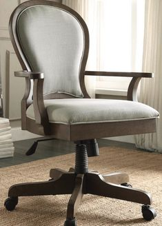 18 Modern Farmhouse Office Chairs for Your Workspace - Finding Sea Turtles Farmhouse Office Chairs, Home Office Chairs, Office Furniture, Grey Desk Chair, Swivel Office Chair, Bankers Chair, Rolling Chair, Comfortable Office Chair, Rustic Chair