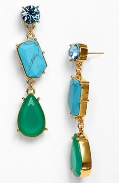 kate spade new york crystal fiesta linear stone earrings available at #Nordstrom