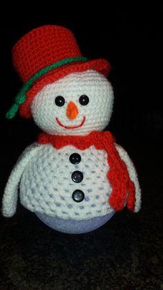 sneeuwpop op lichtbol