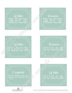 Items similar to 48 Printable Pantry Labels: Stella Vintage Blue Collection on Etsy Pantry Organization Labels, Pantry Labels, Storage Organization, Spice Labels, Canning Labels, Canning Recipes, Food Storage, Household Organization, Pantry Ideas