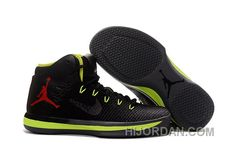lowest price 0bea5 6c706 2017 Air Jordan XXX1 Black Green Red Basketball Shoes New Style Dh6Znd