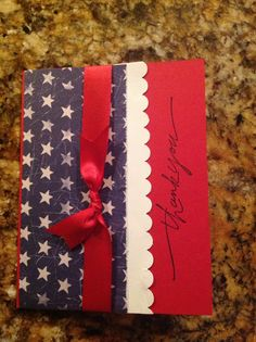 Patriotic card for mail call on an honor flight It Matters To Me, Honor Flight, Military Cards, Angel Cards, Card Making Tutorials, Dog Sweaters, Veterans Day, Fourth Of July, Memorial Day