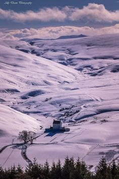 Corgarff Castle is dwarfed on the Aberdeenshire landscape in Scotland
