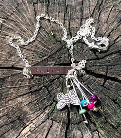 A personal favorite from my Etsy shop https://www.etsy.com/listing/229094258/15-faith-necklace-with-butterfly-and