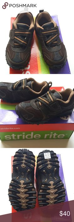 Stride Rite Dynamic Brown 13W Shoes Leather NEW Stride Rite Dynamic Brown Boys Casual Shoes Leather   Sz 13 Wide   Condition: New in Box  My items come from a smoke-free household, we do have a kitty, so an occasional hair may occur! Stride Rite Shoes