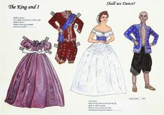 The King & I paper dolls by Sharon Souter | Sharon's Sunlit Memories☆: Paper Doll Studio Issues 112 - 114 (OPDAG)