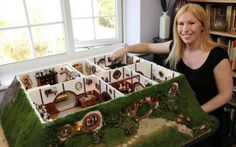 and I thought I was an obsessed fan! hahaha I have NOTHING on this girl! check out the details on this doll house she made of the Hobbit's Bilbo and Frodo's house!