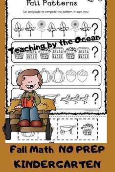 Homework Folders, Fall Patterns, Early Finishers, Morning Work, Black And White Design, Common Core Standards, Elementary Math, Kindergarten Activities, Task Cards