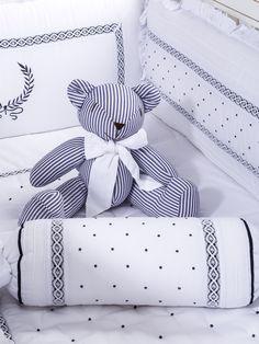 Kit Berço Provençal Nobre Marinho - Maison Baby (6 peças)
