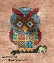 Variety of free patterns at Stitching the Night Away #owl #cross stitch #patterns