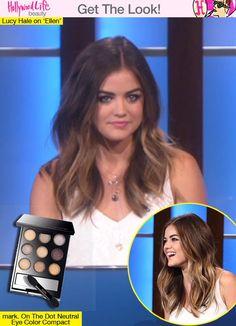 Lucy Hale's Brown Smokey Eye On 'Ellen' — Copy Her Exact Look | shop http://avon4.me/1RXWW0T #lucyhale #makeup