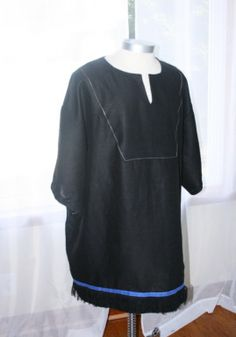 Hebrew Garments | Hebrew Inspired Garments made from 100% Natural Fibers with Fringes & Blue Borders According to Numbers 15:37-41