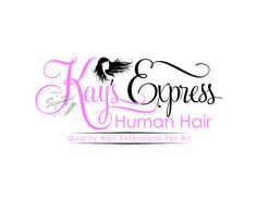 Hair extensions logo design with silhouette logo in by Signtific